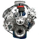 Billet Specialties Tru Trac Serpentine System with Power Steering (Without A/C)